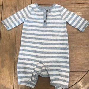 Striped one piece baby boy outfit